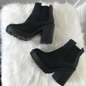 H&M Chunky black booties